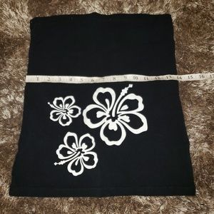 Baby Be Mine Tops - ☆☆☆5 for $20! Belly band black w/ white hibiscus